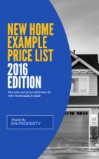 Price List For New Build Houses.