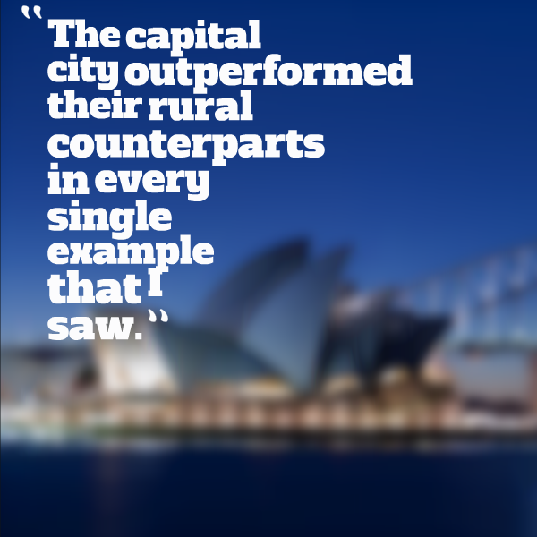 The capital city outperformed their rural counterparts in every single example that I saw.