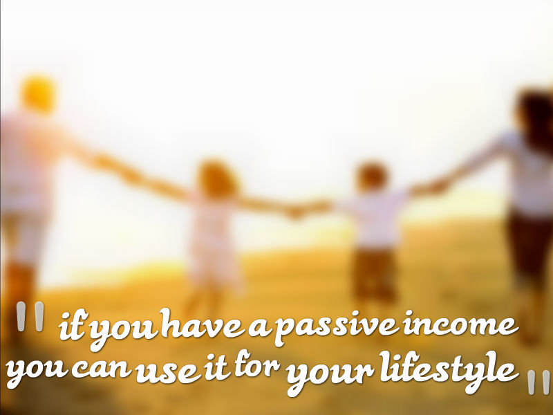 if you have a passive income from cash flow then you can siphon the passive income out after you've paid expenses and use it for your lifestyle