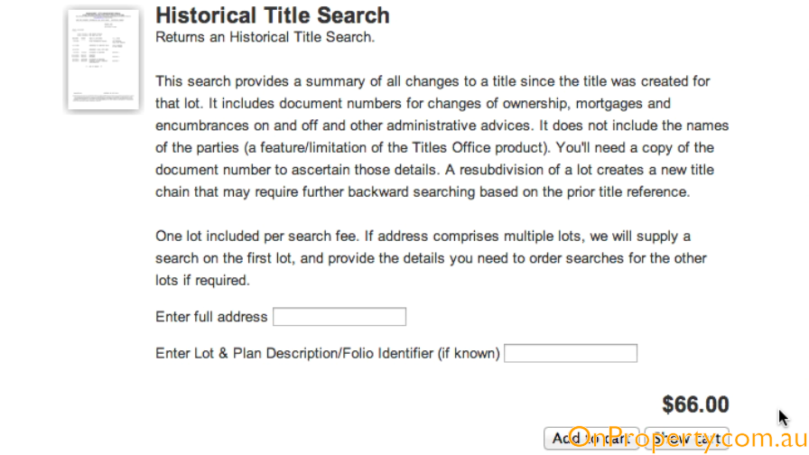 Avoid This $66 Historical Title Search