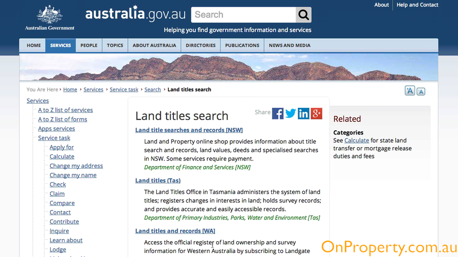 Government Site For Land Title Search - Choose State