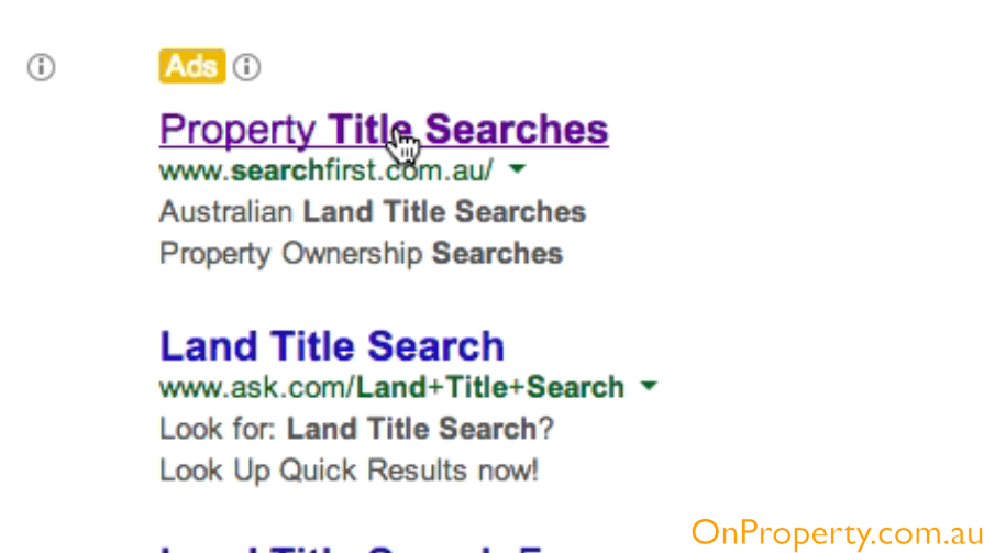 Land Title Search Expensive