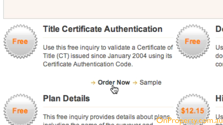 Land Title Certificate Authentication