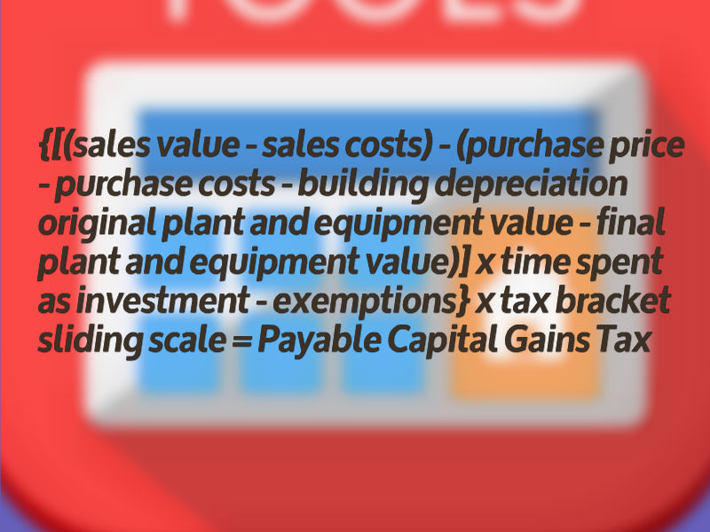Equation For Calculating Capital Gains Tax