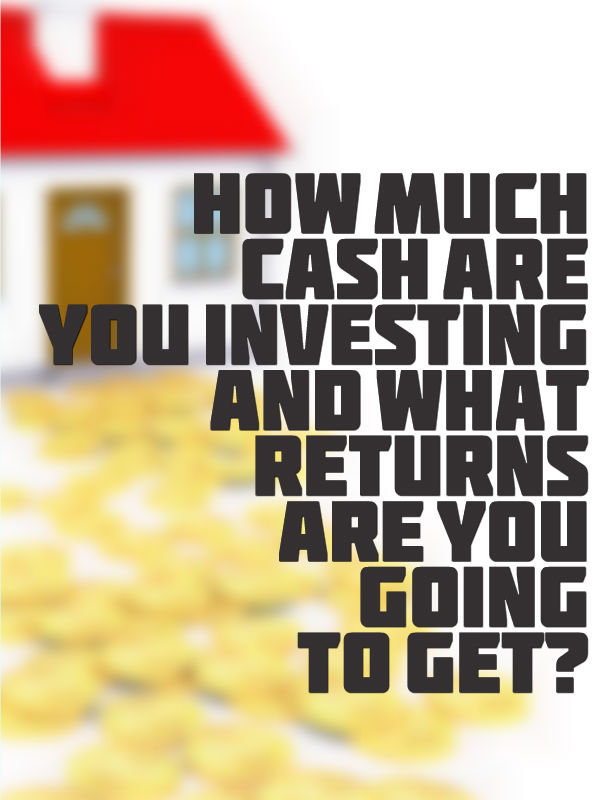 how much cash are they investing and what returns they're going to get