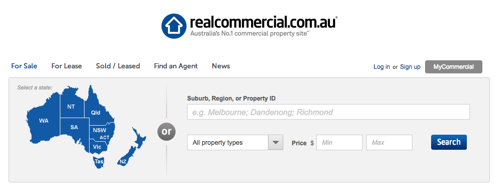 realcommercial.com.au home page