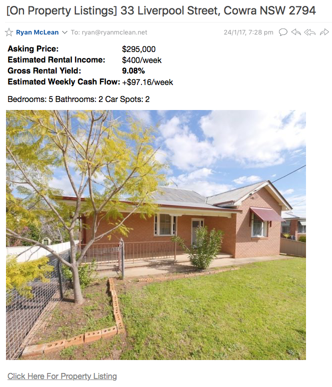 Cowra Positive Cash Flow Property