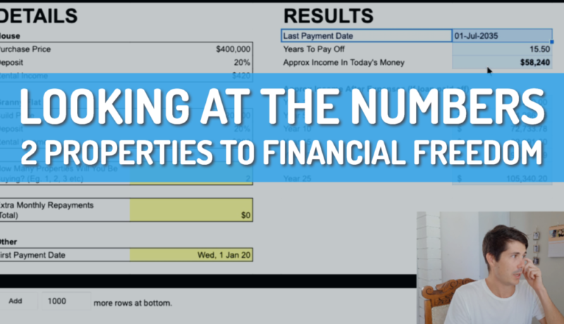 2 Properties to Financial Freedom: Looking At The Numbers